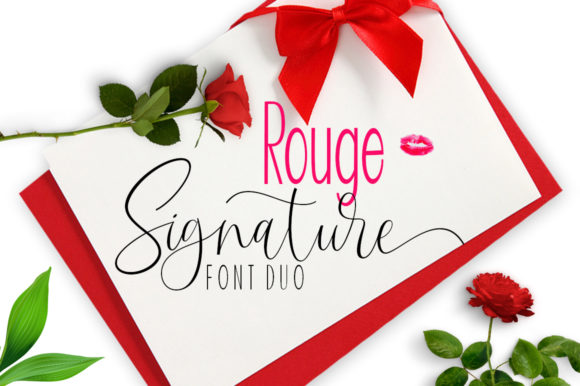 Print on Demand: Rouge Duo Script & Handwritten Font By ayeelastudio