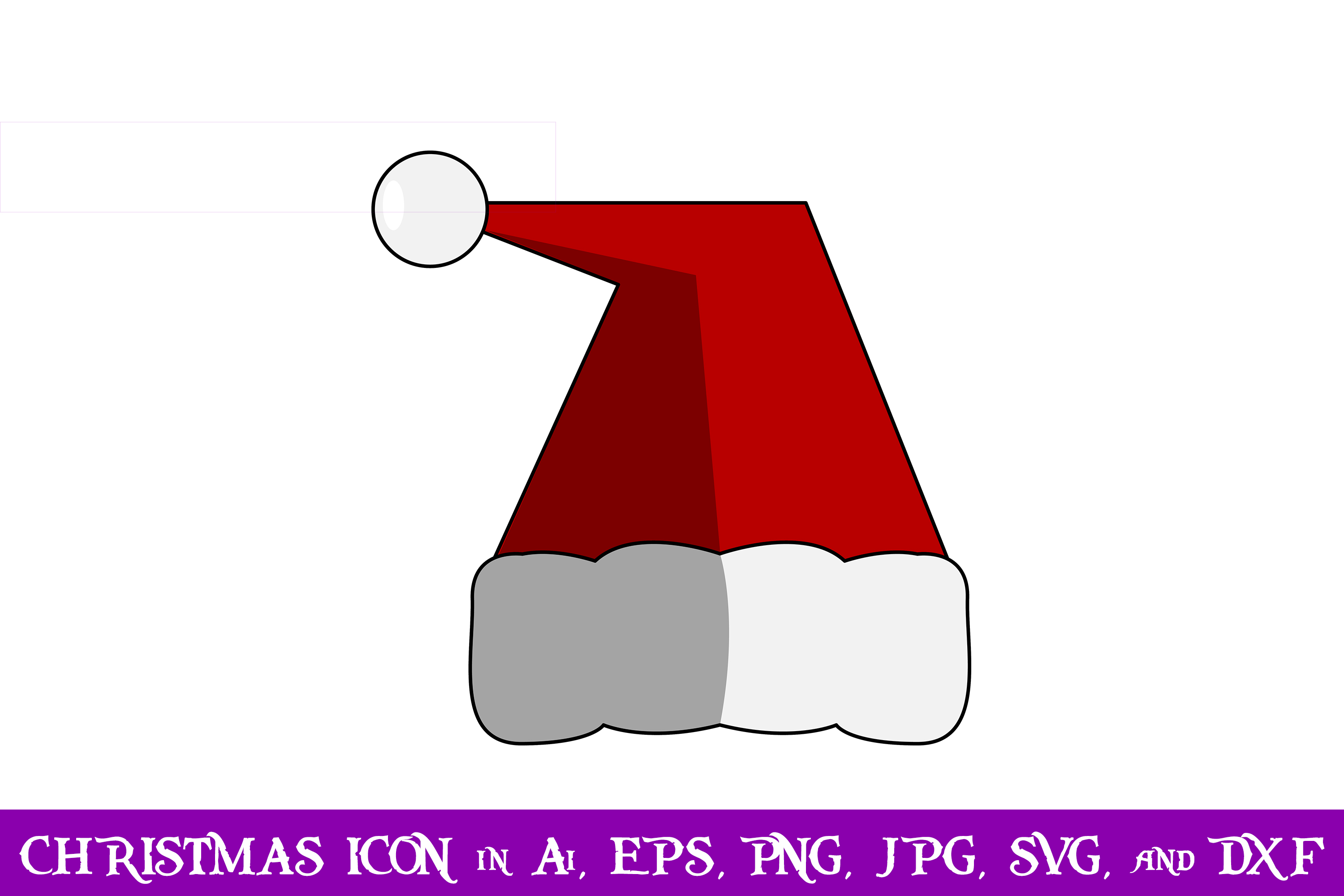 Download Free Santa Hat Christmas Icon Graphic By Purplespoonpirates for Cricut Explore, Silhouette and other cutting machines.