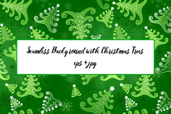 Seamless Background with Christmas Trees Graphic Patterns By Blackmoon9
