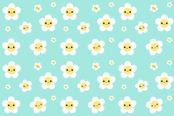 Download Free Seamless Pattern Daisy Flower Graphic By Babydeedy Creative for Cricut Explore, Silhouette and other cutting machines.