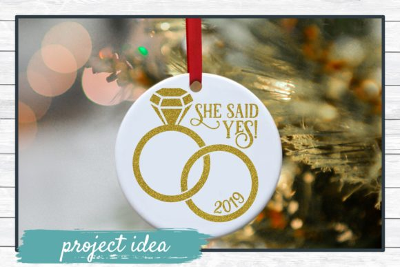 Download Free She Said Yes Graphic By Funkyfrogcreativedesigns Creative Fabrica for Cricut Explore, Silhouette and other cutting machines.