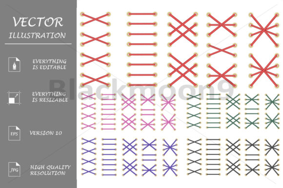 Download Free Shoelaces Graphic By Blackmoon9 Creative Fabrica SVG Cut Files