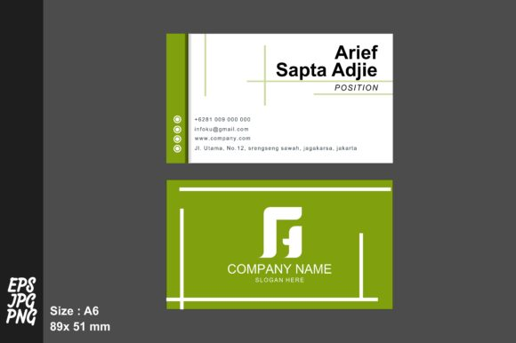 Download Free Simple Namecard Template Graphic By Arief Sapta Adjie Ii for Cricut Explore, Silhouette and other cutting machines.