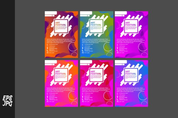 Print on Demand: Simple Poster Template Bundle Graphic Graphic Templates By Arief Sapta Adjie II