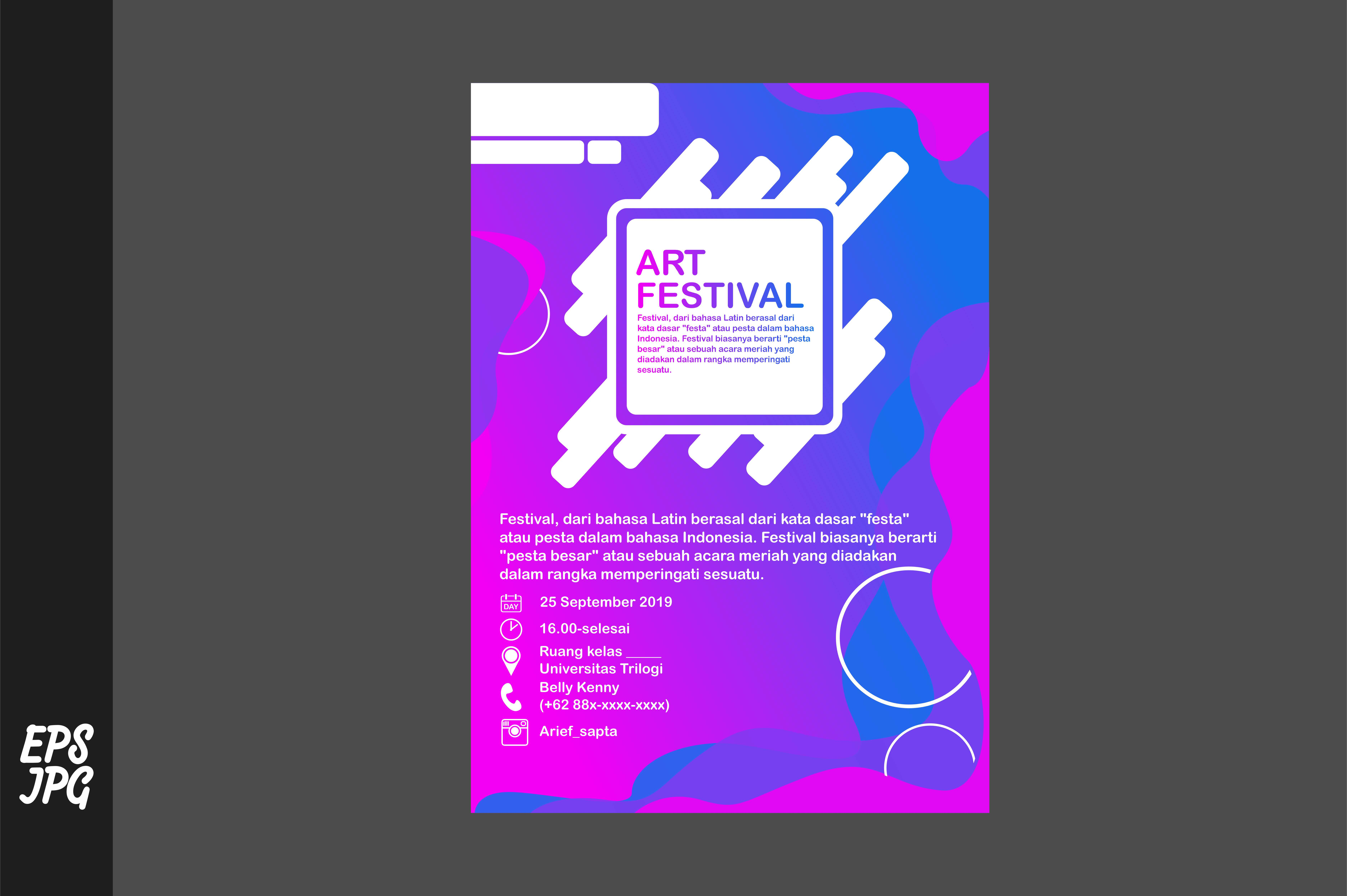 Download Free Simple Poster Template Graphic By Arief Sapta Adjie Ii for Cricut Explore, Silhouette and other cutting machines.