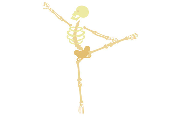 Skeleton Doing Ballet Craft Design By Creative Fabrica Crafts Image 1