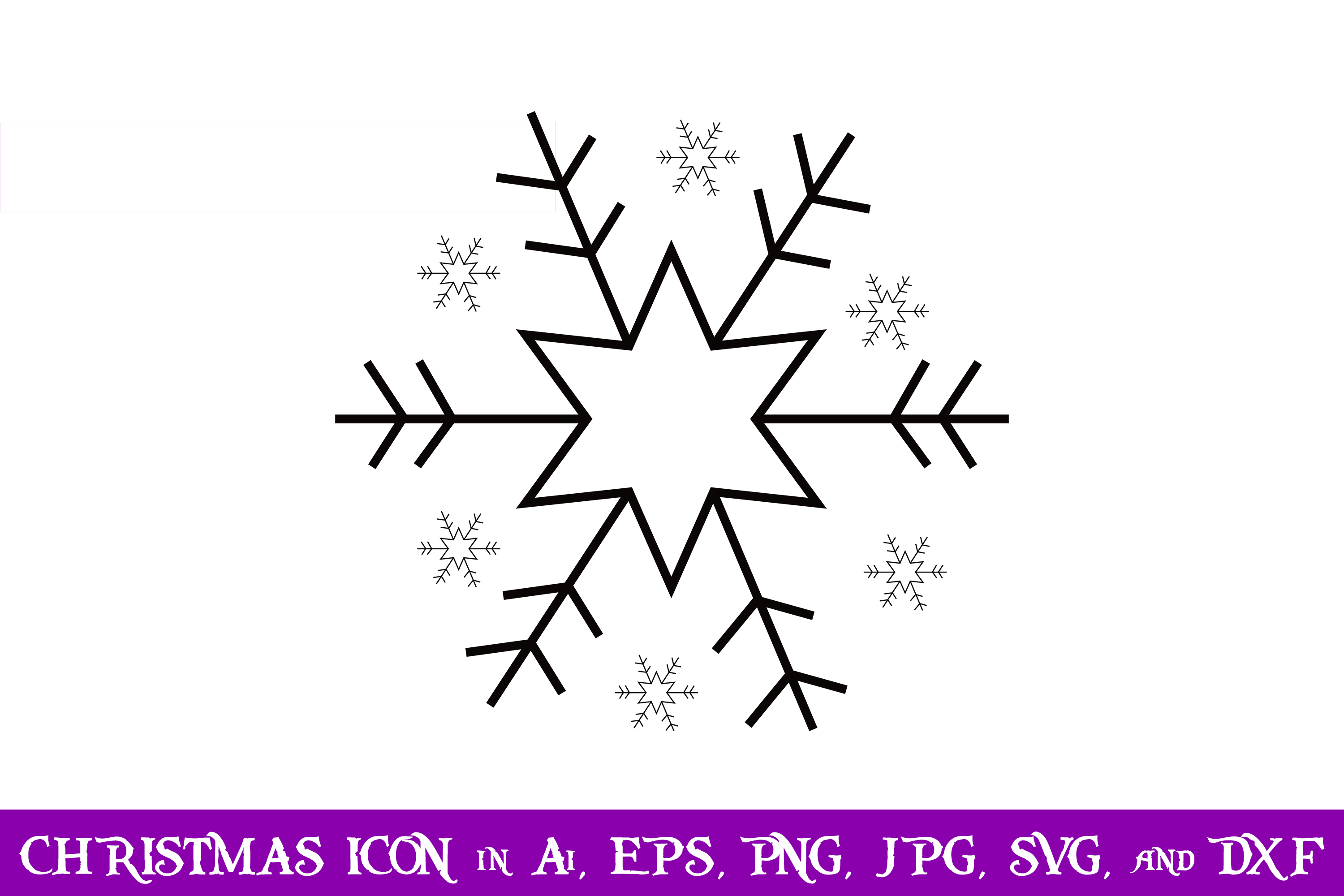 Download Free Snow Crystal Christmas Icon Graphic By Purplespoonpirates for Cricut Explore, Silhouette and other cutting machines.