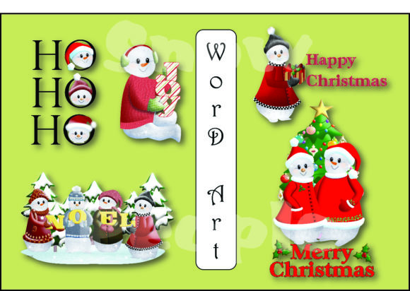 Snow Family Graphic Graphic Templates By mstoniann