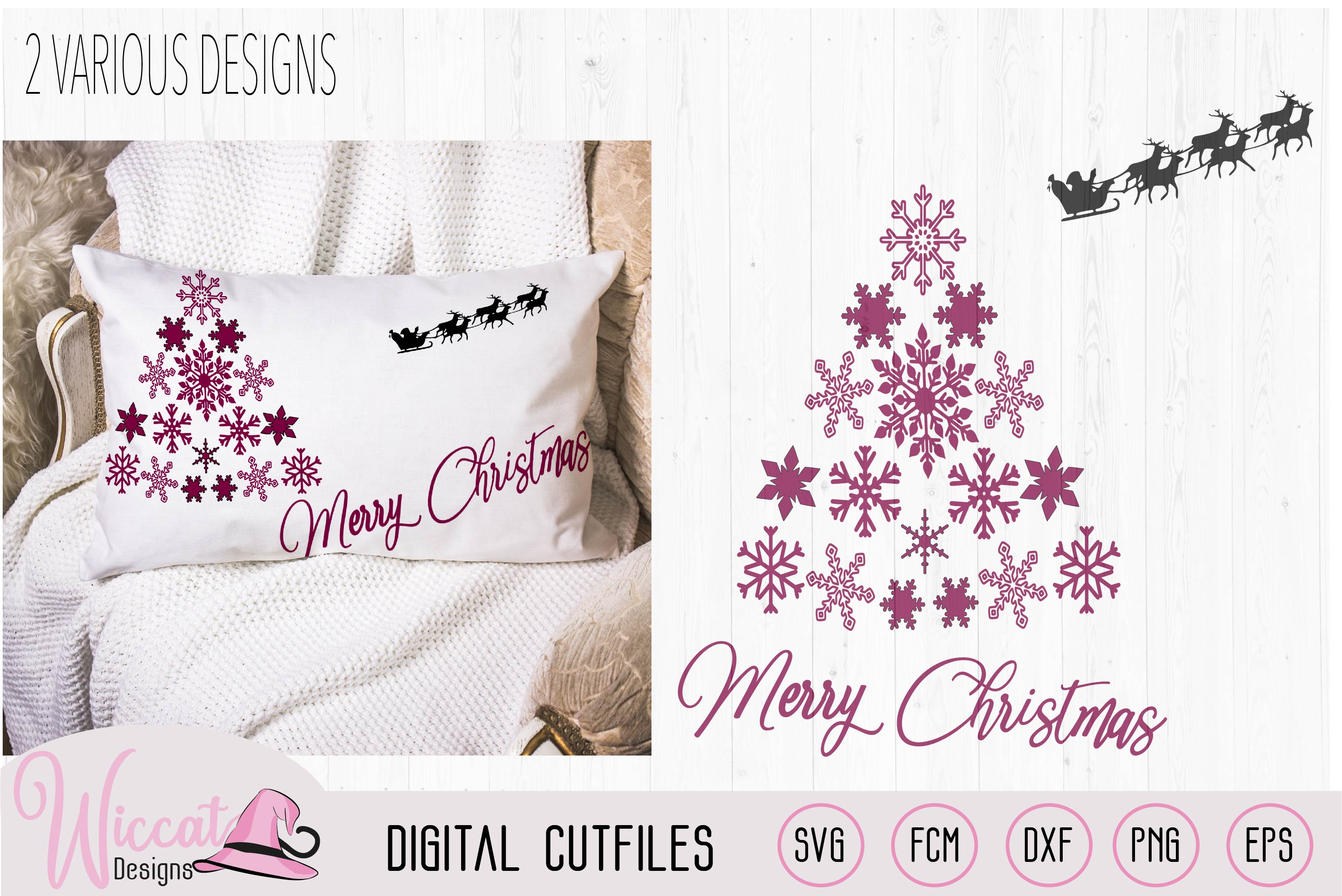 Download Free Snowflake Christmas Tree Graphic By Wiccatdesigns Creative Fabrica for Cricut Explore, Silhouette and other cutting machines.