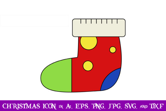 Download Free Socks Christmas Icon Graphic By Purplespoonpirates Creative for Cricut Explore, Silhouette and other cutting machines.