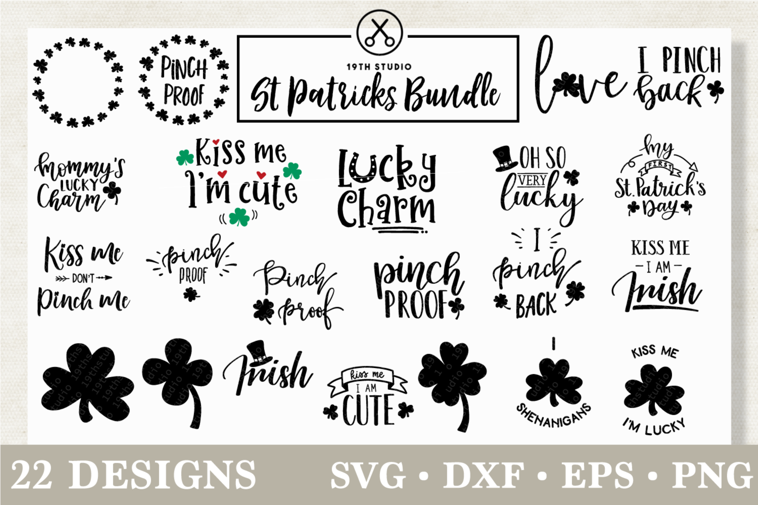 Download Free St Patrick S Day Svg Bundle Graphic By 19th Studio Svg SVG Cut Files