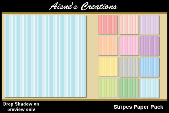 Print on Demand: Stripes Paper Pack Graphic Backgrounds By Aisne