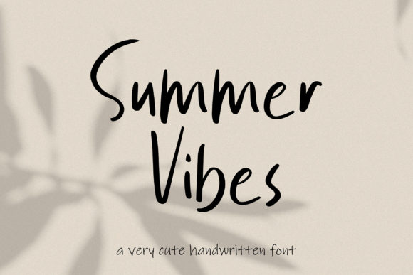 Print on Demand: Summer Vibes Script & Handwritten Font By MJB Letters