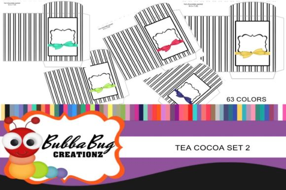 Tea and Cocoa Set 2 Graphic Crafts By BUBBABUG
