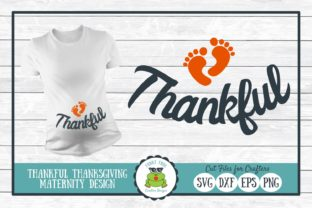 Thankful Maternity Thanksgiving Graphic By funkyfrogcreativedesigns