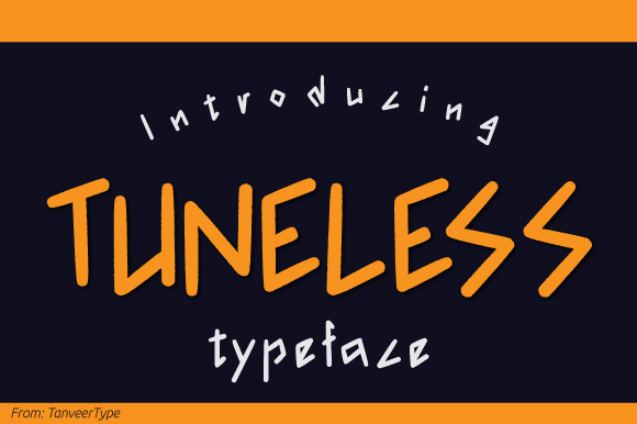 Print on Demand: Tuneless Display Font By TanveerType