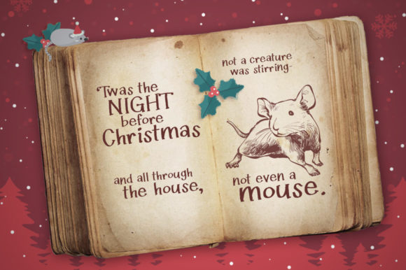Twas the Night Before Christmas Font By Reg Silva Art Shop Image 2