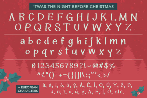 Twas the Night Before Christmas Font By Reg Silva Art Shop Image 7