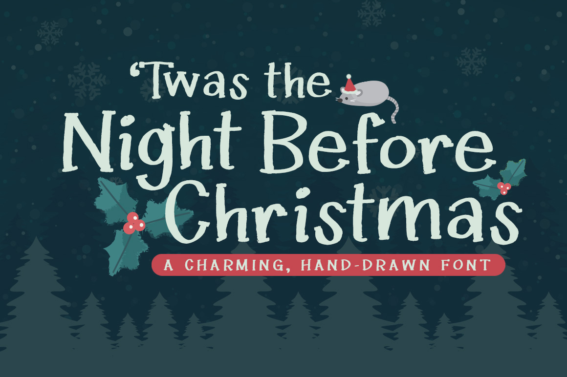 Download Free Twas The Night Before Christmas Creative Fabrica for Cricut Explore, Silhouette and other cutting machines.