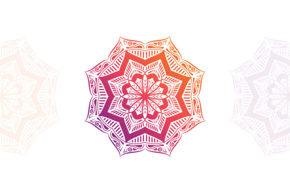 Vector Gradient Mandala Graphic Crafts By raretracks