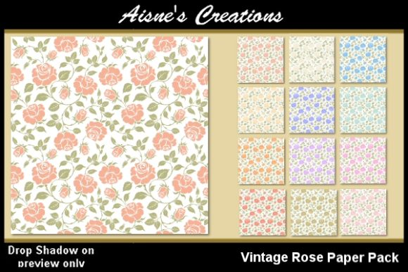Print on Demand: Vintage Rose Paper Pack Graphic Backgrounds By Aisne