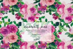 Watercolor Pink Floral Collection Graphic By Patishop Art