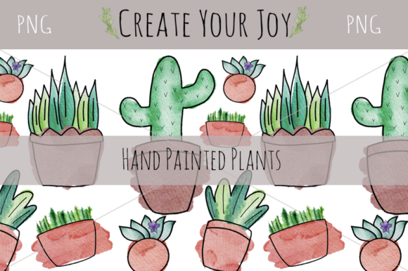 Download Free Watercolor Plants With Printables Graphic By Create Your Joy for Cricut Explore, Silhouette and other cutting machines.
