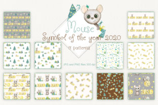 Watercolor Seamless Patterns of Mouse Graphic By Natalia Arkusha
