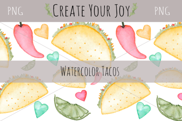 Download Free Watercolor Taco Set Graphic By Create Your Joy Creative Fabrica for Cricut Explore, Silhouette and other cutting machines.
