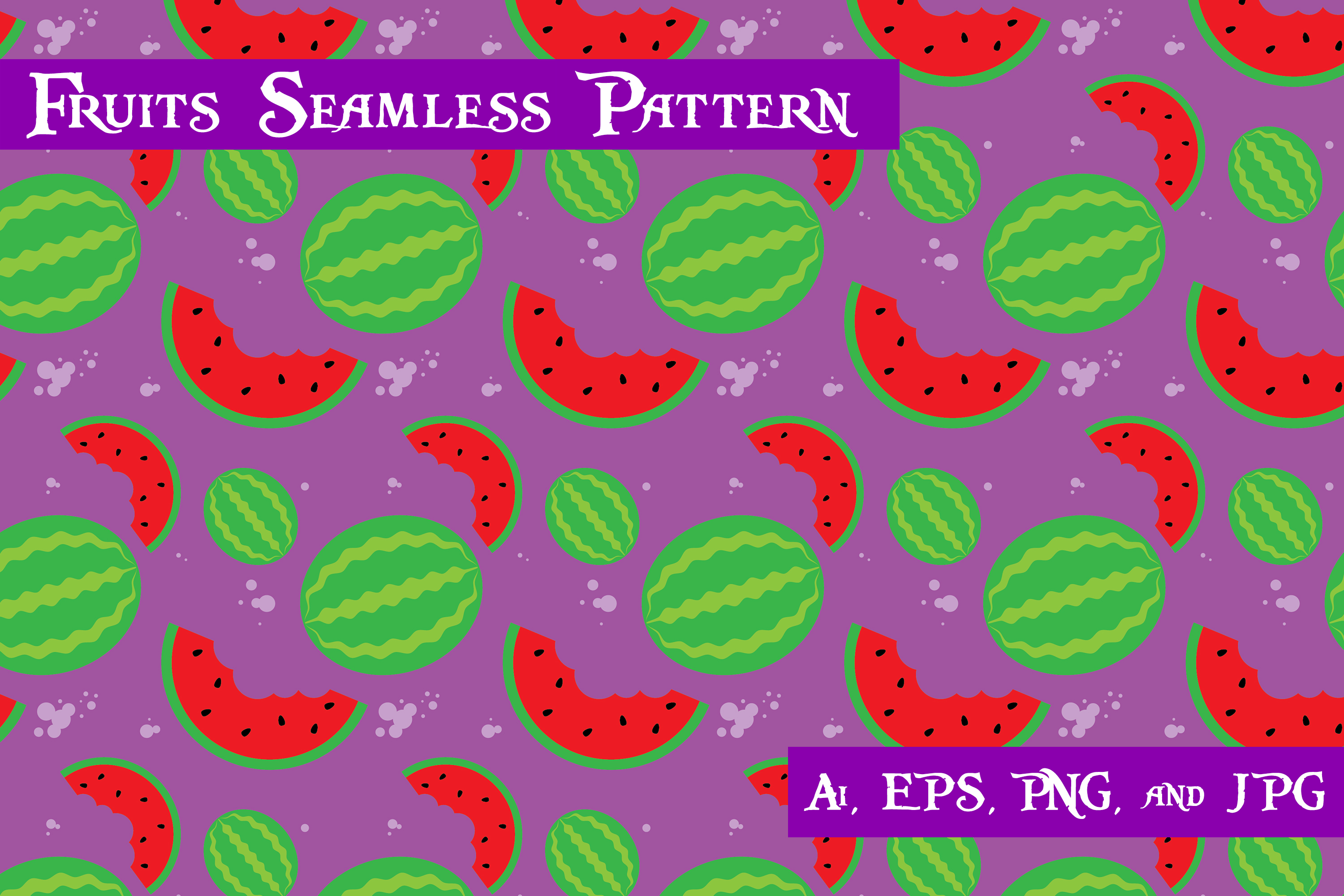 Download Free Watermelon Fruits Seamless Pattern Graphic By Purplespoonpirates for Cricut Explore, Silhouette and other cutting machines.