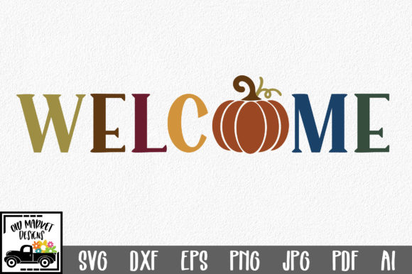 Download Free Welcome Graphic By Oldmarketdesigns Creative Fabrica for Cricut Explore, Silhouette and other cutting machines.