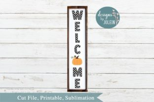 Welcome with Pumkin Graphic By Designs by Jolein