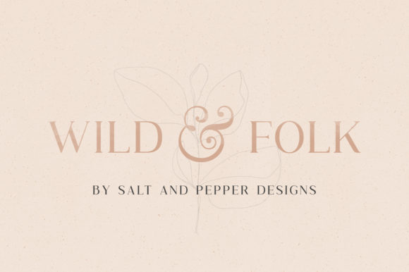 Print on Demand: Wild & Folk Serif Font By Salt & Pepper Designs