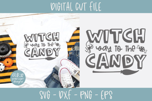 Witch Way to the Candy SVG Graphic Crafts By GraceLynnDesigns