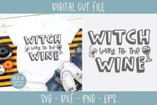 Witch Way to the Wine Graphic By GraceLynnDesigns
