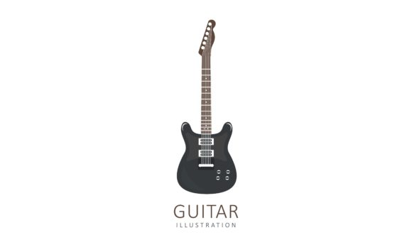 Download Free Acoustic Guitar Electric Guitar Design Graphic By Deemka Studio Creative Fabrica for Cricut Explore, Silhouette and other cutting machines.