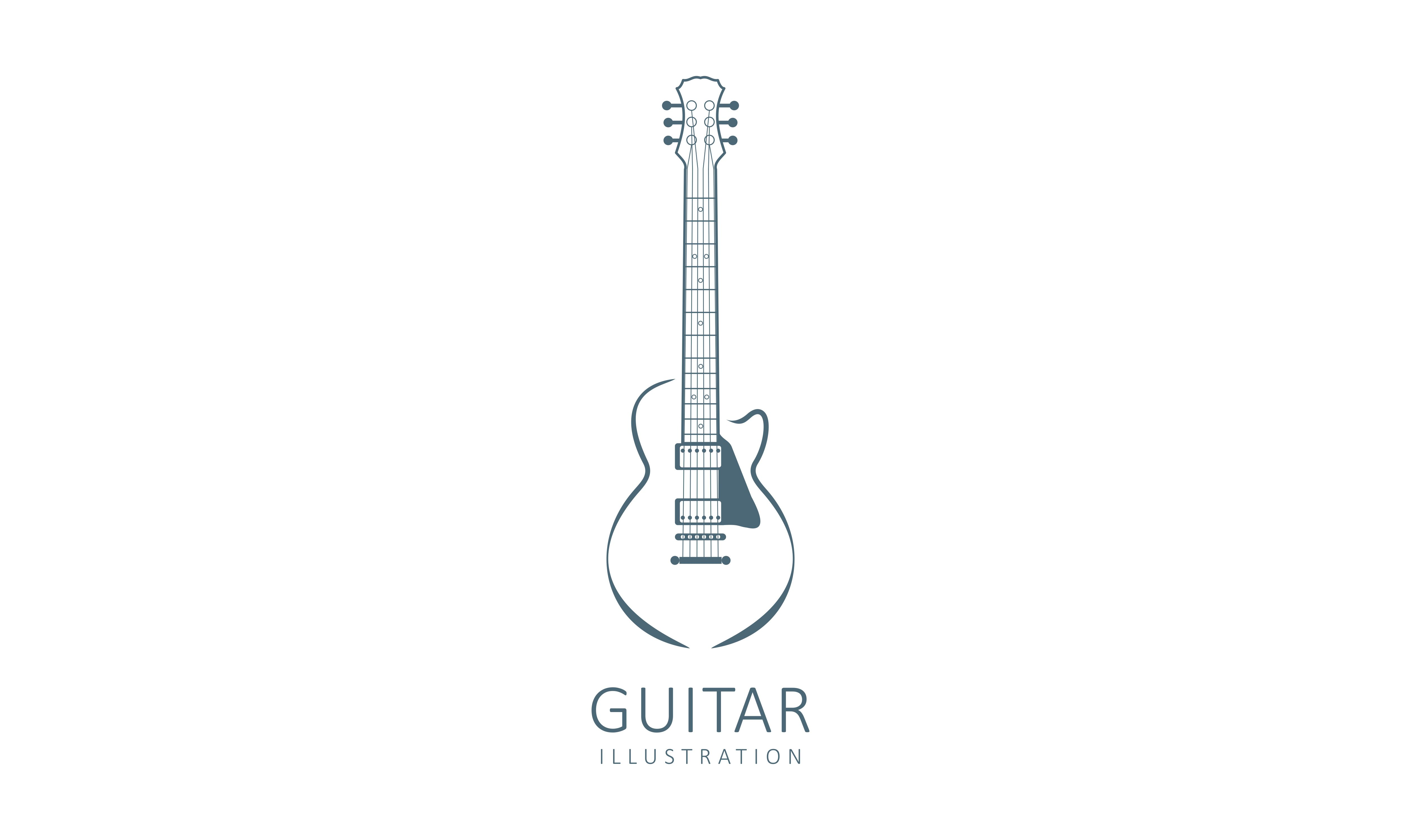 Download Free Acoustic Guitar Electric Guitar Design Graphic By Deemka Studio Creative Fabrica SVG Cut Files