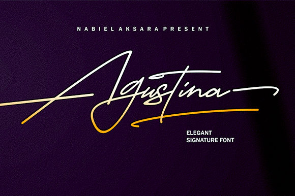 Print on Demand: Agustina Script & Handwritten Font By Nun Creatype