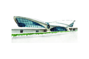 Airport - Watercolor Style Craft Design By Creative Fabrica Crafts