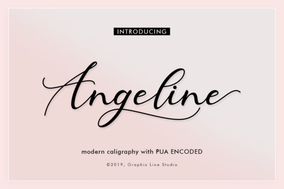 Print on Demand: Angeline Script & Handwritten Font By Graphix Line Studio