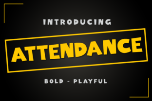 Attendance Font By TanveerType