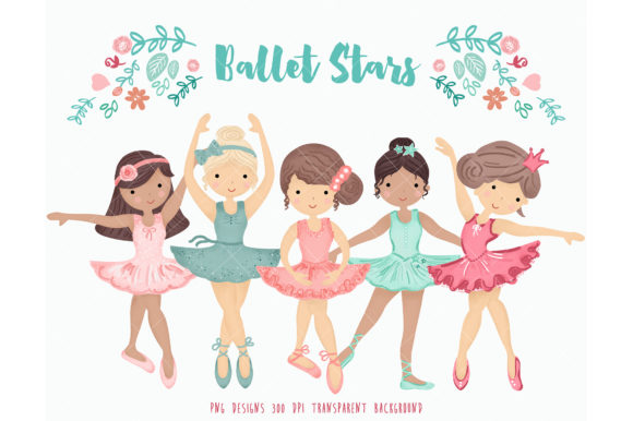Download Free Ballerina Ballet Dancers Dancig Girls Graphic By Kabankova for Cricut Explore, Silhouette and other cutting machines.