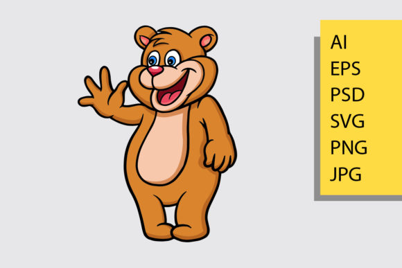 Bear Cartoon Mascot Vector Graphic Illustrations By Cove703