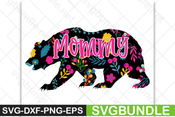 Print on Demand: Bear Mommy Graphic Crafts By svgbundle.net