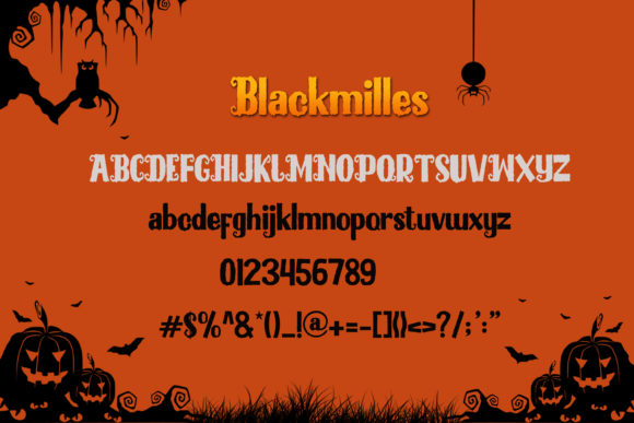 Print on Demand: Blackmilles Display Font By NeutroneLabs - Image 4