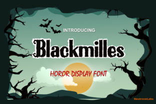 Print on Demand: Blackmilles Display Font By NeutroneLabs