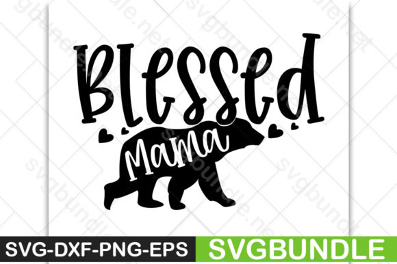 Print on Demand: Blessed Mama Graphic Print Templates By svgbundle.net