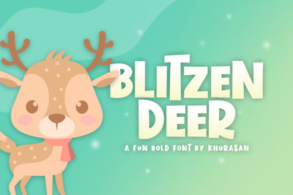 Print on Demand: Blitzen Deer Display Font By Khurasan - Image 1