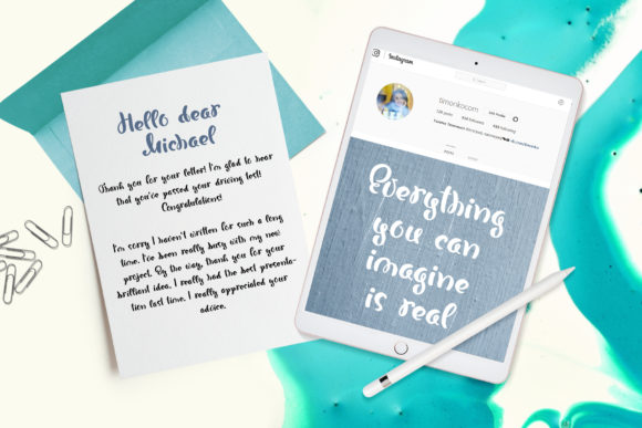 Print on Demand: Bonjour Script & Handwritten Font By Happy Letters - Image 2