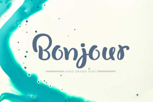 Print on Demand: Bonjour Script & Handwritten Font By Happy Letters - Image 1